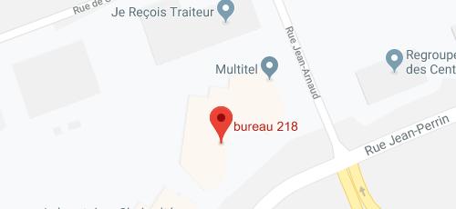 Carte Google Map Sompro Québec